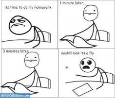 Me when I'm doing homework - FunSubstance.com on imgfave