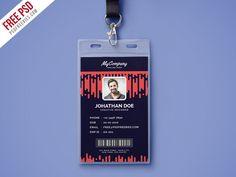 Free PSD : Corporate Company Photo Identity Card PSD by PSD Freebies