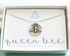 Honey Bee Medallion • Queen Bee Necklace •  Bee Lover • Nature Lover • Inspiring • Honey Bee Jewelry • Gift For A Queen • Best Friend Gift