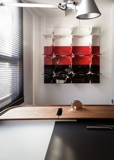 colorful #shelf - #white #red #black