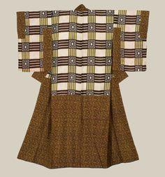 A silk 'dounuki' (specialized inner kimono). 1850-1880, Japan. The Kimono Gallery