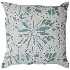 Bandhini Homewear Design Butterfly Linen Green Throw Pillow BAN2222BCL