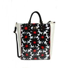 Καθημερινή τσάντα άσπρη-μαύρη 29,90