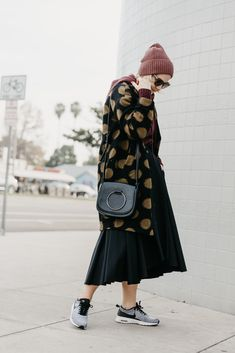 6 More Weeks of Winter Style: The Polka Dot Statement Coat - Anne Sage