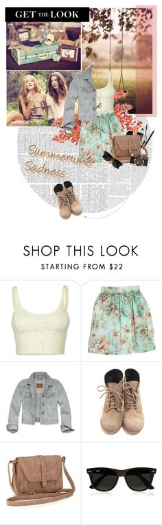 """kiss me hard before you go"" by editaeduardovna ❤ liked on Polyvore featuring Ethan Allen, Lottie & Holly, Tara Jarmon, Hollister Co., Accessorize, Ray-Ban and Forever 21"