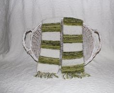 Angel Hair Hand Knit Scarf in Bright Green and by StitchinGalTX