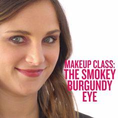 Made you look: Learn how to create a next-level burgundy smokey eye.
