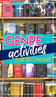 Engaging ideas for teaching literary genres in middle and high. Informations About Literary Genre Teaching Genre, Teaching Literature, Teaching Reading, Teaching Themes, Teaching Tools, Library Lessons, Reading Lessons, Reading Genres, Reading Comprehension
