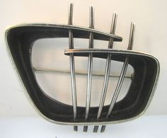 1950's ED WIENER Modernist Sterling Silver Brooch. Perfect to wear around your atomic ranch...
