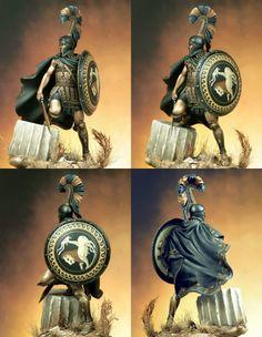 """Греческий гоплит-наемник V cen. B.C.Масштаб - 75мм """"СМОЛА """"Kit"""", неокрашенная миниатюра, фигура состоит из нескольких частей"""