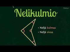 Nelikulmiot | Opetus.tv (neljä videota 1:37-2:31). 31, Mathematics, Maths, Youtube, Peda, Math