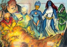 The Brotherhood of Evil Mutants : Pyro, Blob, Avalanche, Destiny, Mystique, Rogue