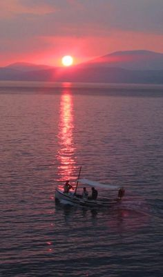 Beautiful sunset.. Hydra Island, Saronic Gulf, Greece