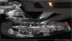 3D Rendering of USS Enterprise.