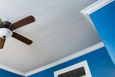 Install crown molding to add visual interest and value to your home. Cabinets To Ceiling, Hinges For Cabinets, Molding Ceiling, Ceiling Fan, Faux Crown Moldings, Crown Molding Installation, Drinks Before Bed, Paint Cans, Home Improvement