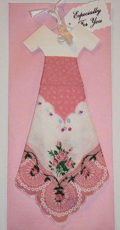 flat dress ornament made from hankie ...