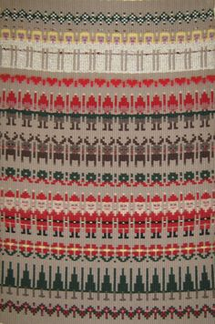Boundweave Christmas pattern also directions for lovely 6 block, 8 shaft huck fabric!