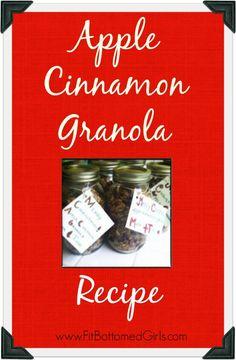 Apple Cinnamon Granola Recipe --- perfect for the holidays!