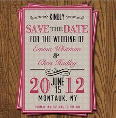 Save The Date Wedding Invitation STD by olivepresspaper on Etsy, $15.75