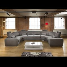 Mive Modern High Quality U Shape Sofa Corner Group Grey 25