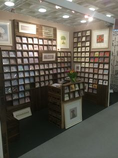 Another great image of bespoke rustic trays being used as card displays for @sophie_morrell greetings cards! @woodenboxuk                                                                                                                                                     More