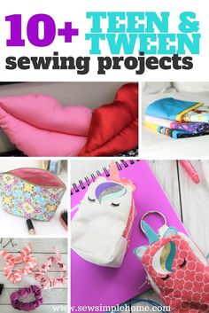 Simple Sewing Projects for Teens and Tweens. Let them be creative and sew with these simple sewing projects for teens. Easy Kids Sewing Projects, Sewing Machine Projects, Sewing Projects For Beginners, Sewing For Kids, Free Sewing, Christmas Sewing Projects, Kids Crafts, Hand Sewing, Sewing Hacks