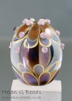 helengbeads UK handmade lampwork glass beads, buttons & jewellery.