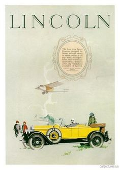 1926 Lincoln Sport Phaeton Ad. More Car Pictures:  http://carpictures.us