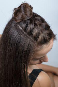 Half-braided hair tutorial