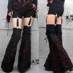 K077-VISUAL KEI PUNK Lolita Gothic Kera Short Pants