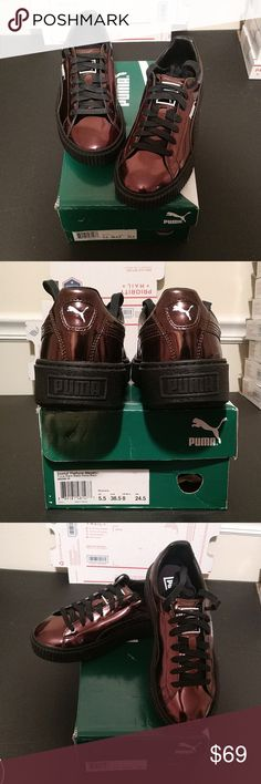 🎈Metallic Puma Sneaker, NWT w box. This sneaker is so neat. The color is metallic. Please refer to pics. Have questions, I'm here. Puma Shoes Sneakers