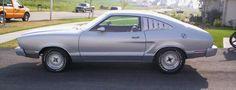 Silver 1976 Mustang II hatchback