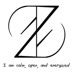"""I am calm, open, and energized"" sigil Requested by Anonymous"