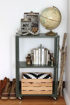 How to: Make a DIY Industrial Shelving Unit from Hardware Store Supplies » Man Made DIY | Crafts for Men « Keywords: industrial, how-to, diy, hardware