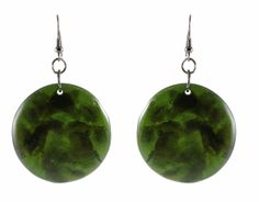 Green Chips Earrings ~ Best selection of Tunics & matching accessories ~ Flat postage worldwide ~ Petite to Plus sizes ~ www.ilovetunics.com