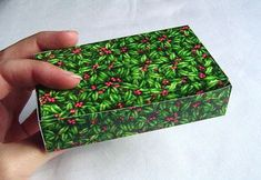 use a greeting card to make a gift box