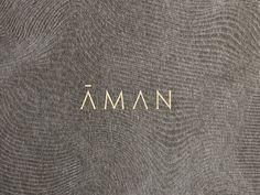 Aman   Journal   Construct London Hotel Branding, Business Branding, Logo Branding, Brand Identity, Brand Packaging, Packaging Design, Business Ideas, Flow, Hotels