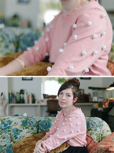 DIY: pom pom sweater