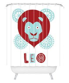 Loving this Leo Shower Curtain on #zulily! #zulilyfinds