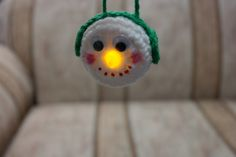 Lighted Snowman Ornament - Free Pattern