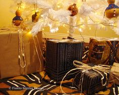 African Christmas presents under the tree