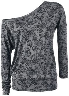 Black Premium by EMP Long-sleeved Shirt »Skull & Roses« | Buy now at EMP | More Basics Longsleeves available online ✓ Unbeatable prices!