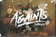 Check out Againts Typeface (update) by celcius design on Creative Market- Nice to use for Easter Series