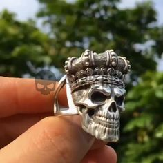 Skull Jewelry, Gothic Jewelry, Luxury Jewelry, Mens Skull Rings, Silver Skull Ring, Skull Fashion, Punk Fashion, Lolita Fashion, Fashion Boots