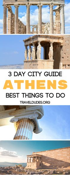 A three day travel guide to the best things to do in Athens, Greece. Get out to the Islands on a day trip and spend time on the beaches. Find the best hotel to stay at with a view of the Acropolis and a heated pool. Dine at the best seafood restaurants in Greece. | Travel Dudes Travel Community #Greece