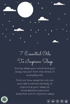 """""""During sleep your mind and your body recover from the stress of everyday life. Specifically, your muscles get repaired, your brain gets cleared of toxins, you form new memories, and your body produces the necessary hormones for the upcoming day."""" Find out more on our blog all about essential oils!"""