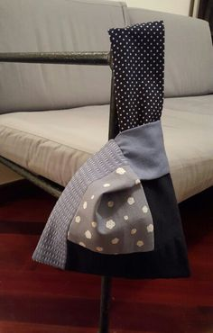 Patchwork rectangle knot bag