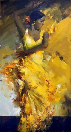 Angelica Privalihin: Yellow Flamenco