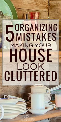These organizing mistakes may be making your house look cluttered and messy. Clutter Organization, Home Organization Hacks, Organizing Your Home, Organizing Tips, Decluttering Ideas, Getting Rid Of Clutter, Getting Organized, Old Washing Machine, Clutter Free Home