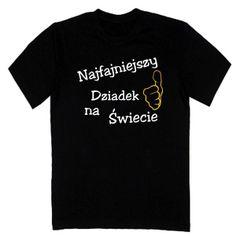 T-shirt męski - najfajniejszy dziadek na świecie z FamilyInBlack.pl